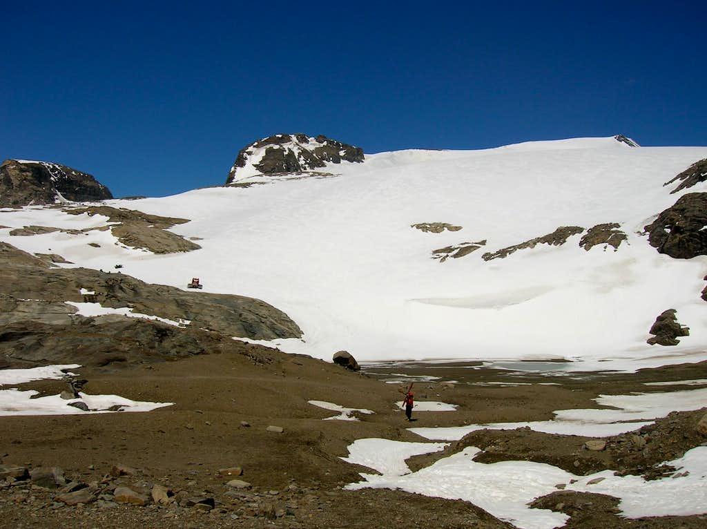 Approach to Oberwalderhütte