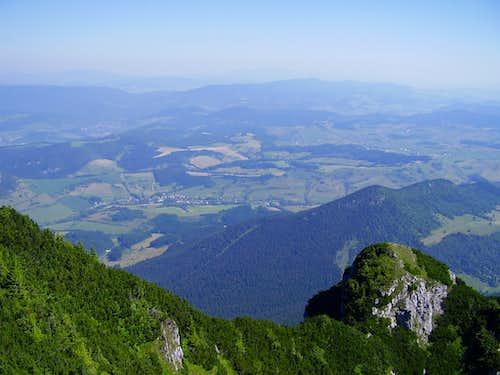 view to Orava region