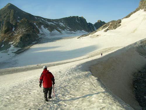 Dinwoody Glacier Moat, Gannett Peak