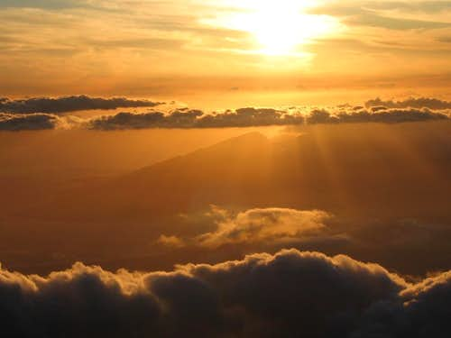 Golden sunset from Haleakala