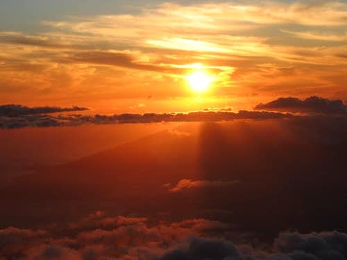 Bronze sunset from Haleakala