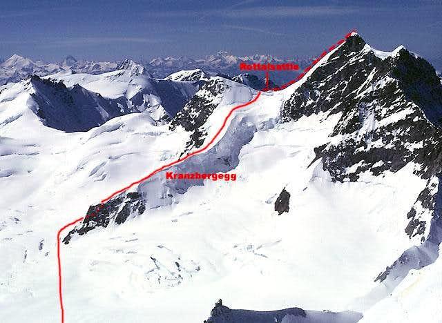 Jungfrau, via the Kranzbergegg