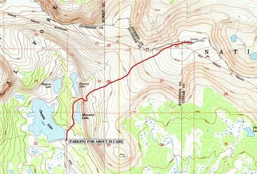Route from Trailhead, if...