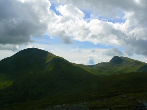 A darkened Ben Vorlich(left) & Stuc a'Chroin(right)