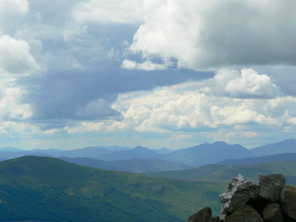 The Arrochar Alps (right) from Ben Vorlich
