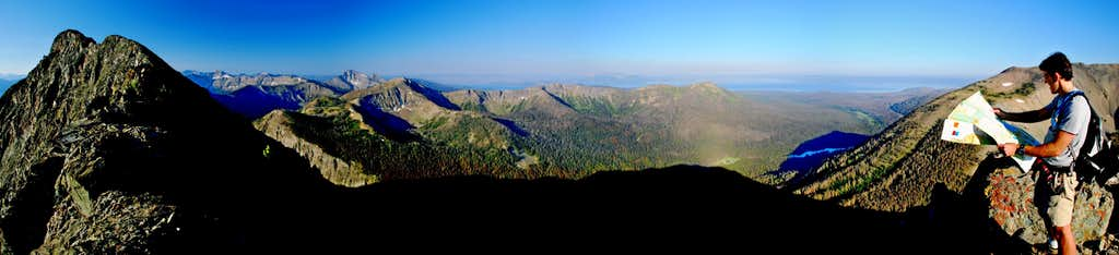 Yellowstone Lake from Connecting Ridge