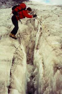 Crevasse jumping