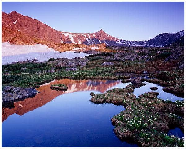 Pacific Peak, Colorado at sunrise.