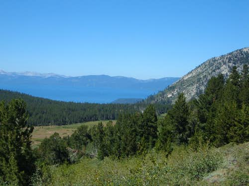 Lake Tahoe - early on the trail