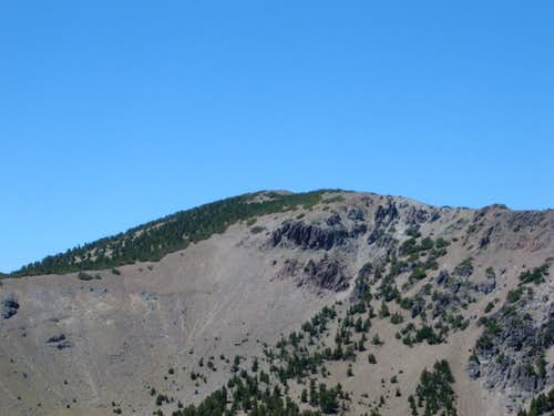 Zoom shot of Mount Houghton