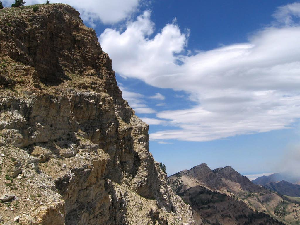 Deseret Peak and unnamed mountain