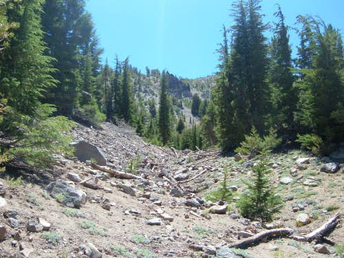 One route from the Mount Rose Trail