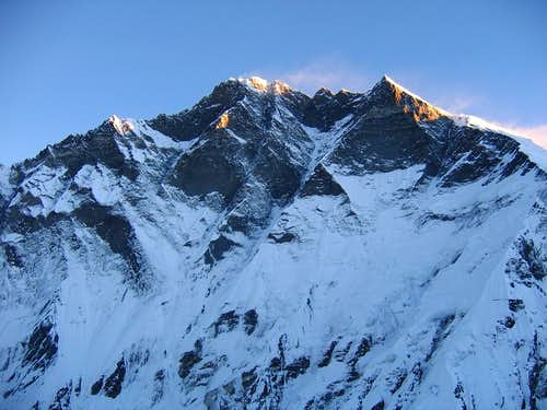 Lhotse at sunrise