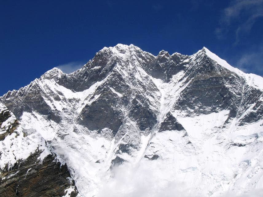 Lhotse as seen from Amphu Labsa pass