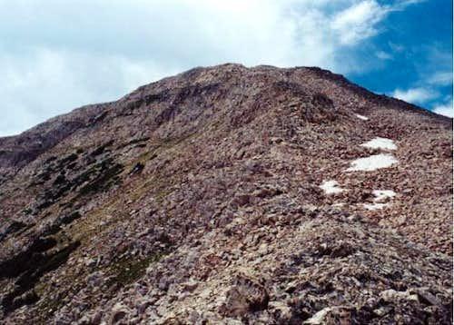 Talus along ascent of Mt....