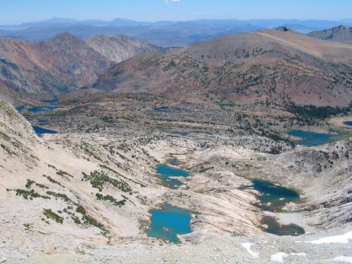 conness lakes seen from the summit, 07/19/2007