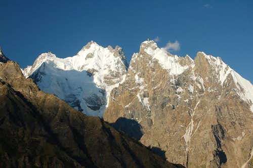 North Faces of P 6340 & Gandes Chhish (6346m)
