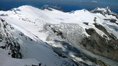 The upper Pasterze Glacier