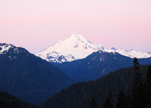 Sunrise on Mt Baker