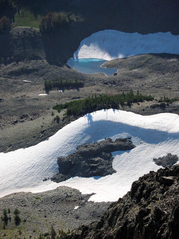 Lake and Melting Snow