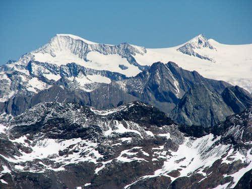Grossvenediger 3662m (on the left) and Rainerhorn, 3560m