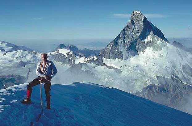 On the summit, looking...