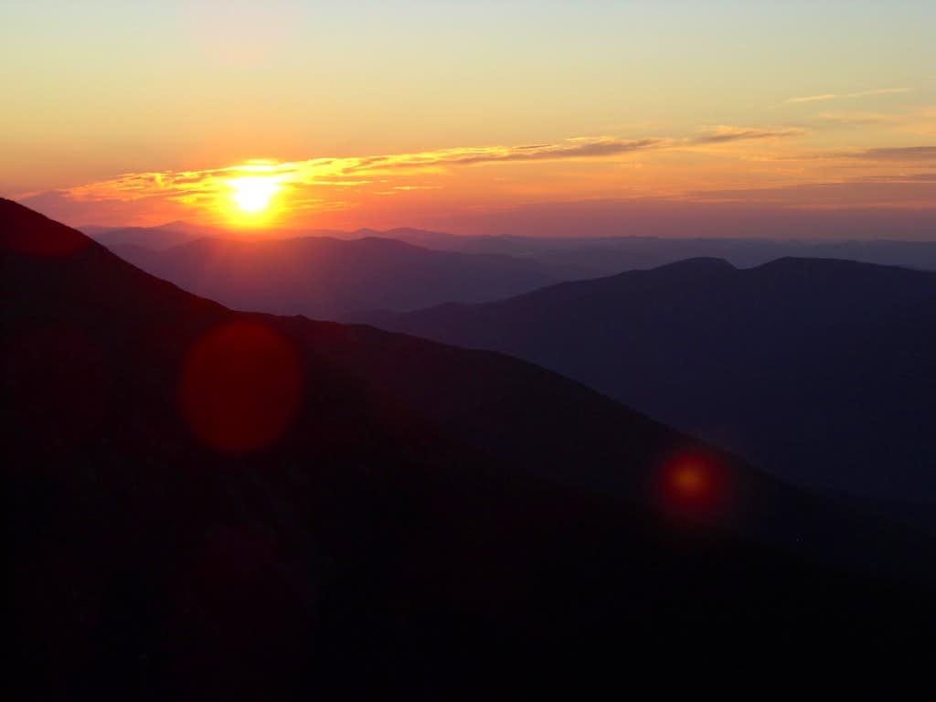 Sunrise over White Mountains