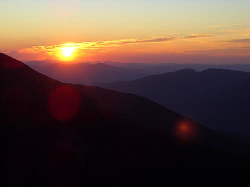 Sunrise over White Mountains