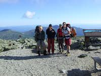 The group on Wahington with Northern Presidentials behind us
