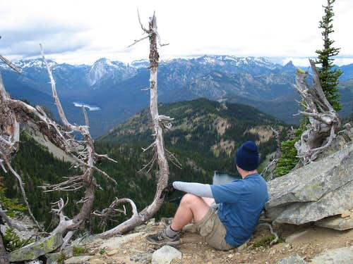 Eric enjoys the views from our ....