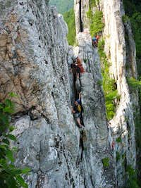 Top belay, 3rd Pitch