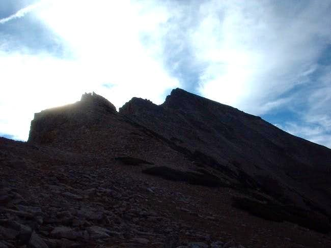 The summit of Agassiz as seen...