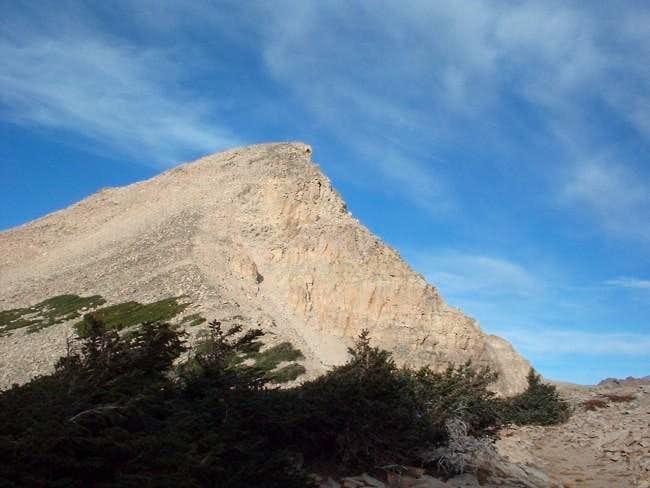 Down climbed ridgeline, this...