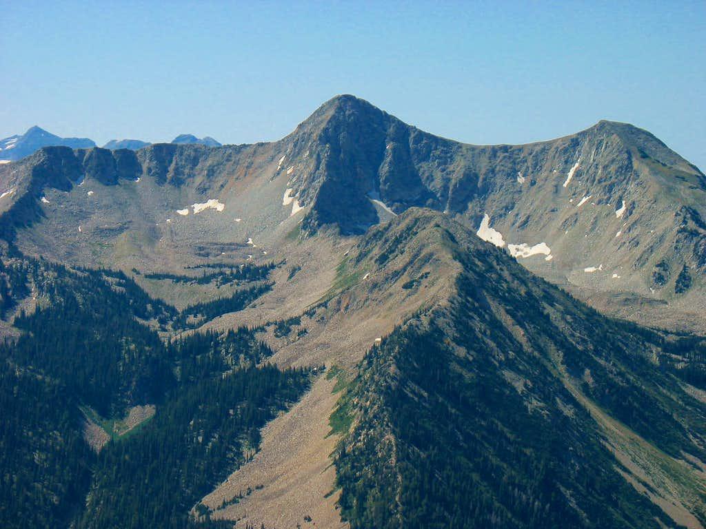 Pfeifferhorn from Twin Peaks Saddle