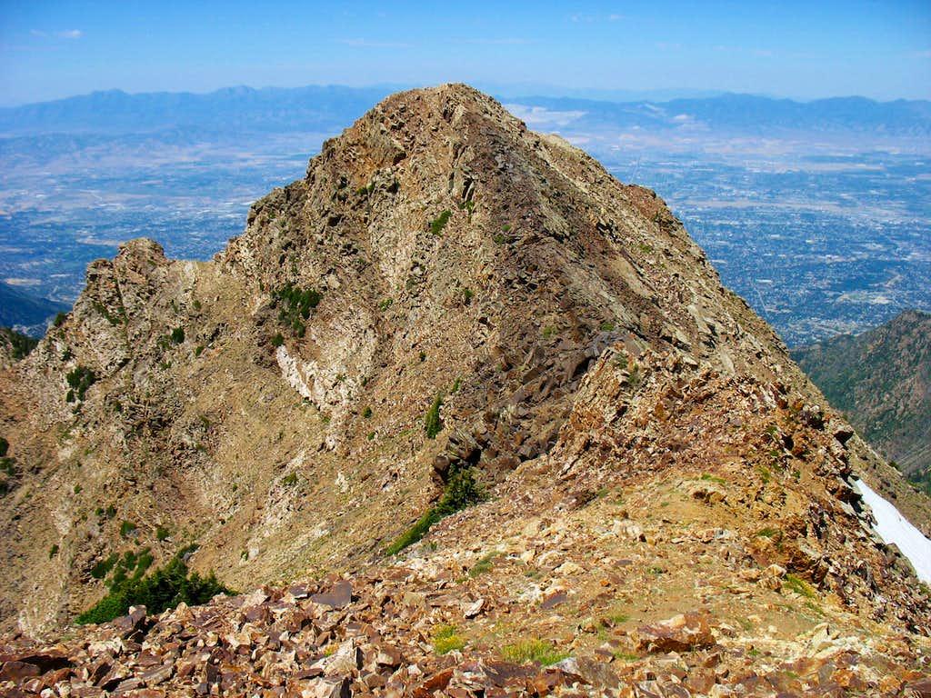 Twin Peaks West Summit from East Summit