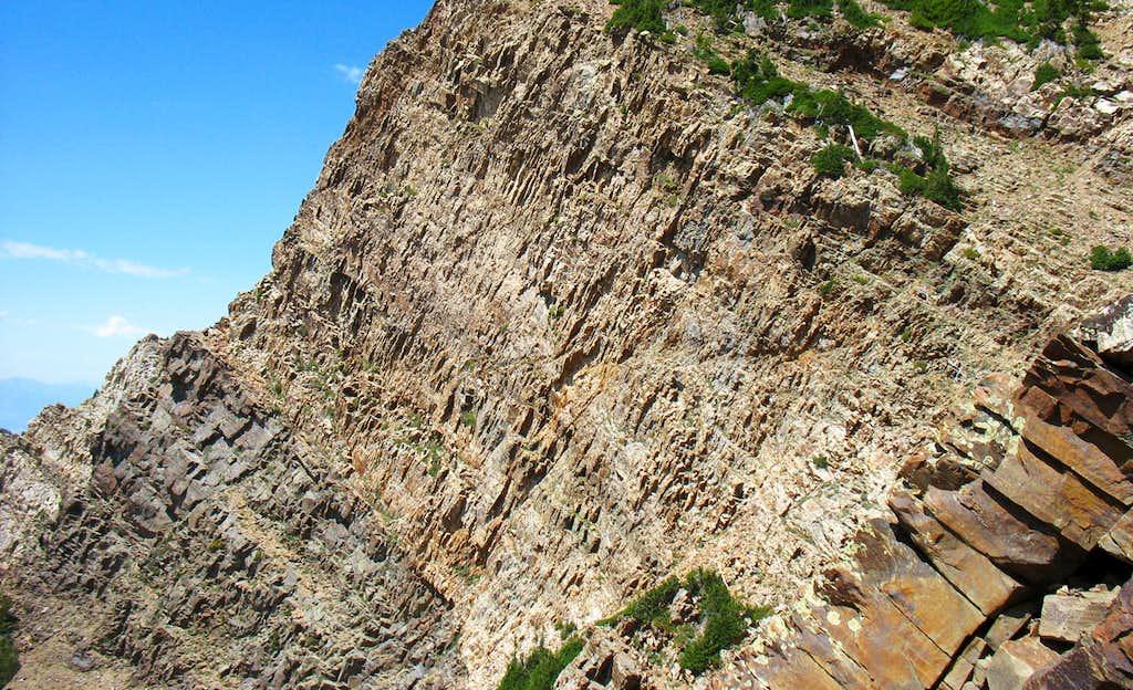 Cliffs Below Twin Peaks East Summit