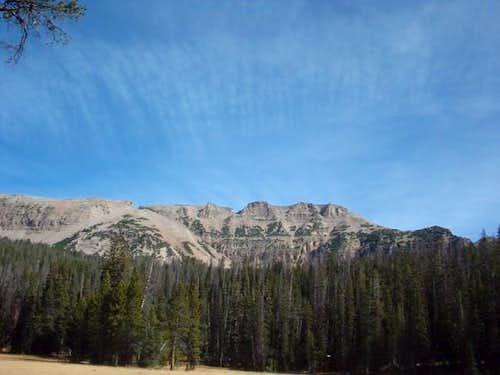 The ridgeline as seen from...
