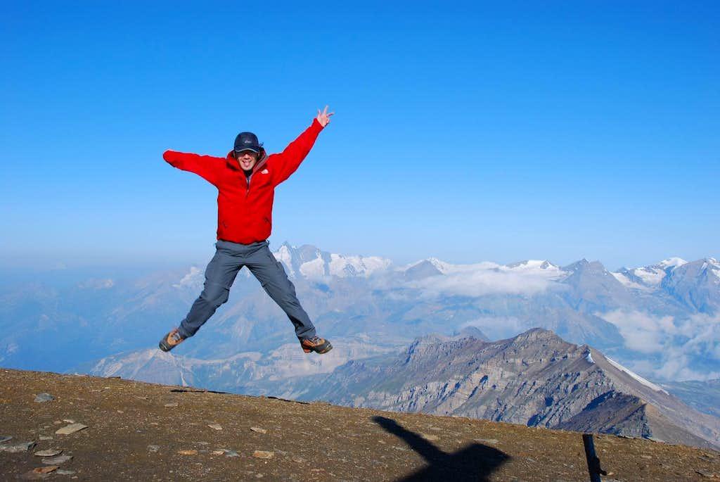 On the summit of Hocharn (3.254 m)