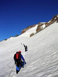 Ascending the Whitman Glacier