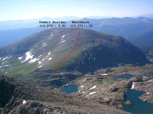 Whitney Peak\'s Northwest Ridge Route