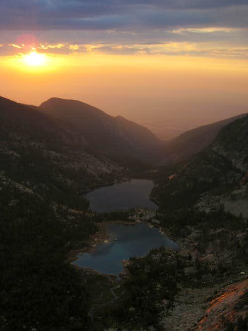 Wyant Lake and Canyon Lake from Canyon Peak