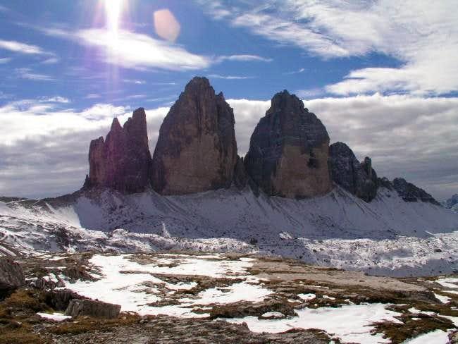 View from Drei-Zinnen-Ütte