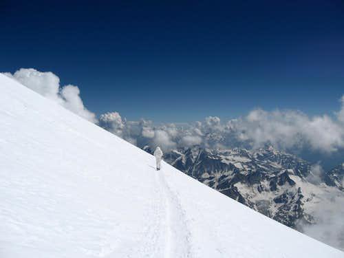 Descending Elbrus
