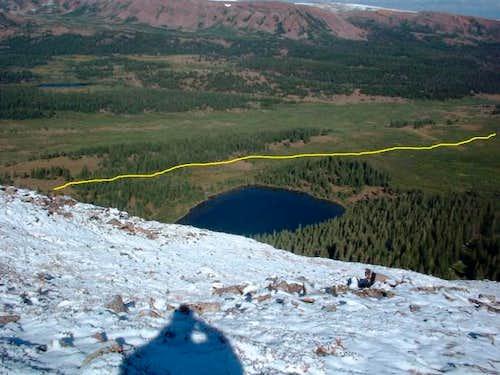 A shot of Dollar Lake as seen...