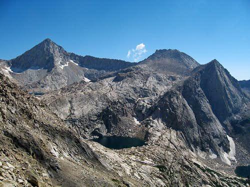 Sawtooth Peak & High Sierra granite & lakes