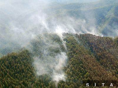 Fire in the Slovak paradise