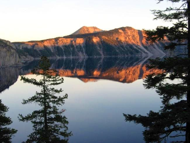 Mt. Scott risng above the...
