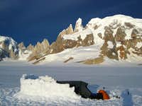 Camping on the Campo de Hielo Sur