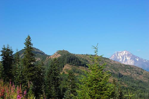 Bachelor Mt. with Mt. Jefferson in the background