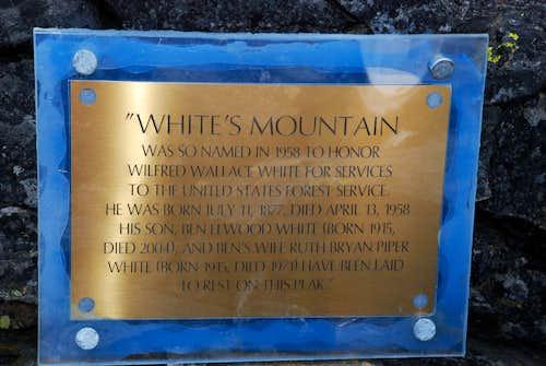 Summit Memorial Plaque